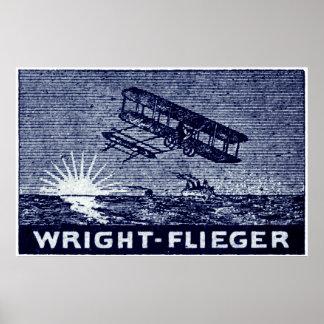 Aviones 1909 de los hermanos de Wright Póster