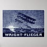Aviones 1909 de los hermanos de Wright Posters