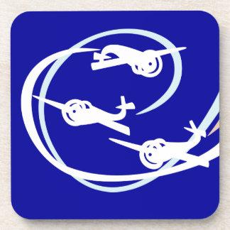 Aviones aéreos del truco posavaso