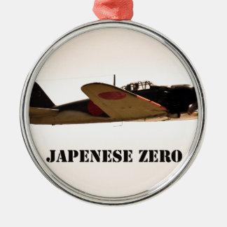 Aviones cero de la guerra mundial del japonés 2 adornos de navidad
