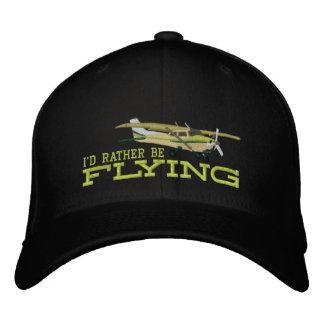 Aviones Cessna clásico que estaría volando Gorras De Béisbol Bordadas