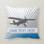 Aviones de ala alta almohada