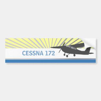 Aviones de ala alta etiqueta de parachoque