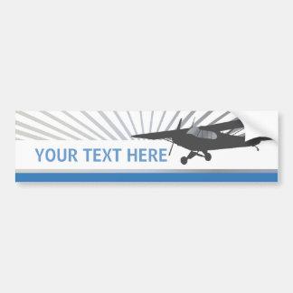 Aviones de ala alta de Taildragger Pegatina De Parachoque