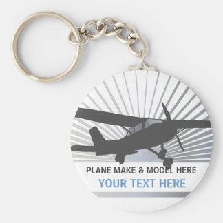 Aviones de ala alta llavero personalizado