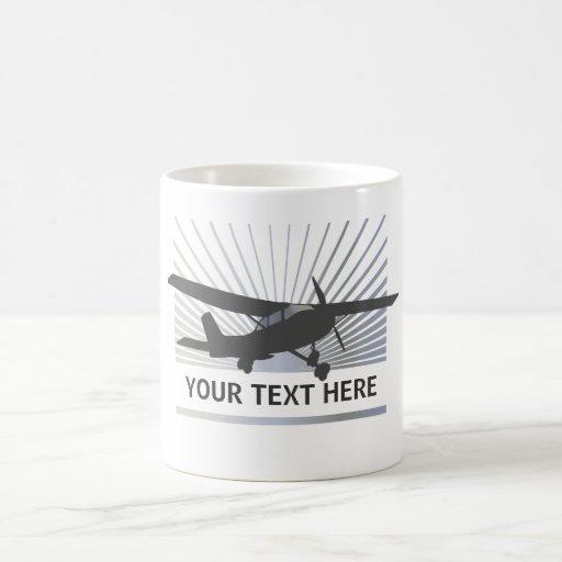 Aviones de ala alta tazas de café