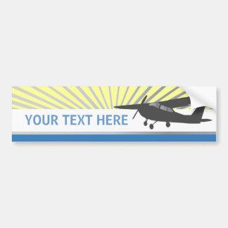 Aviones de ala alta - texto de encargo etiqueta de parachoque