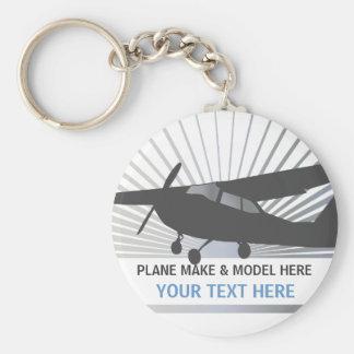 Aviones de ala alta - texto de encargo llaveros