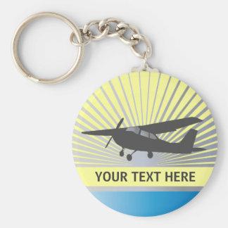 Aviones de ala alta - texto de encargo llavero personalizado