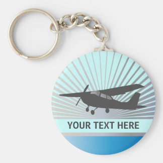 Aviones de ala alta - texto de encargo llavero