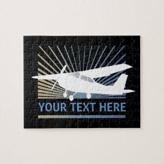 Aviones de ala alta - texto de encargo puzzle