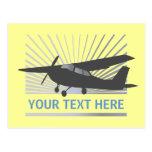 Aviones de ala alta - texto de encargo tarjetas postales