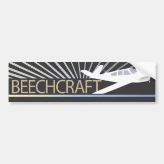 Aviones de Beechcraft Etiqueta De Parachoque