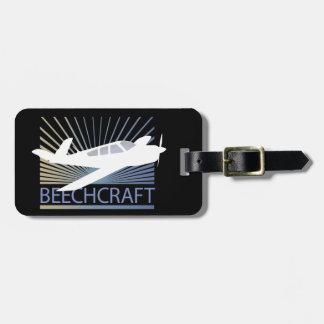 Aviones de Beechcraft Etiquetas Para Maletas