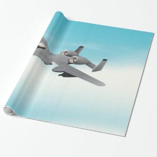 Aviones de bombardero A-10 Papel De Regalo
