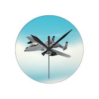 Aviones de bombardero A-10 Reloj Redondo Mediano