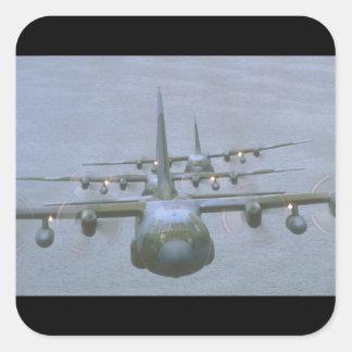 Aviones de C-130 Hércules Transports_Military Pegatina Cuadrada