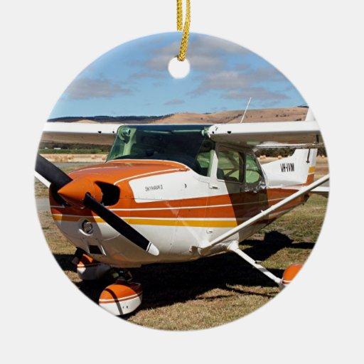 Aviones de Cessna Adorno Navideño Redondo De Cerámica