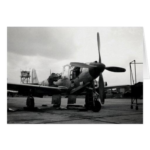 Aviones de combate de WWII Kingcobra Tarjeta Pequeña