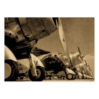 Aviones de combate de WWII - SBD Dauntlesses de Tarjetas De Visita Grandes