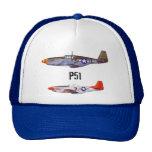Aviones de combate del gorra p51 del camionero por