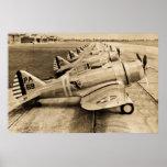 Aviones de combate Severski P-35s de la Segunda Gu Posters