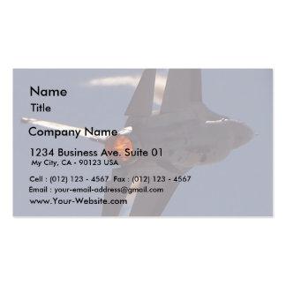 Aviones de combatientes de jets tarjetas de visita