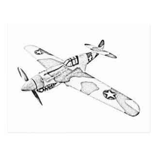 Aviones de Curtiss P-40 Warhawk Tarjeta Postal