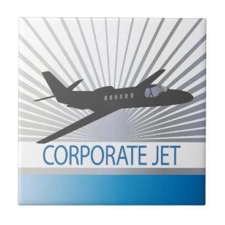 Aviones de jet corporativo teja cerámica