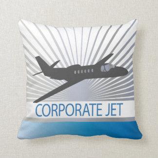 Aviones de jet corporativo cojín