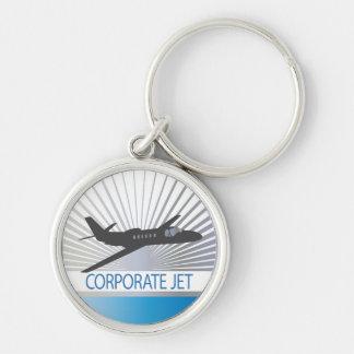Aviones de jet corporativo llaveros personalizados