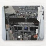 Aviones de jet de la carlinga tapete de raton