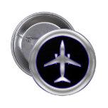 Aviones de jet de plata pins