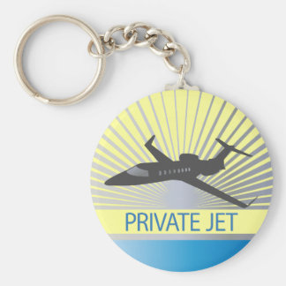 Aviones de jet privado llavero redondo tipo pin