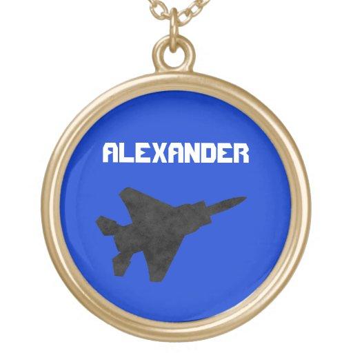 Aviones de la fuerza aérea del avión de combate de collar personalizado