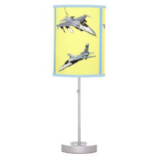 Aviones de la guerra para la lámpara de mesa de lo
