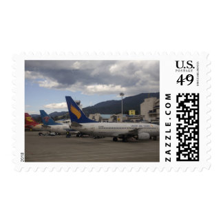 Aviones de pasajeros chinos nacionales del jet sellos