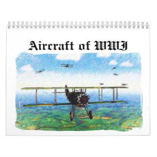 Aviones de WWI Calendario