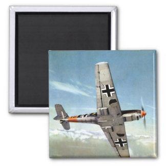 Aviones de WWII ME-109 en vuelo Imán Cuadrado