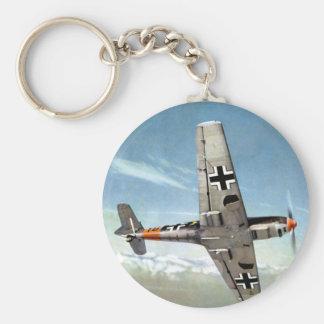 Aviones de WWII ME-109 en vuelo Llavero Redondo Tipo Pin