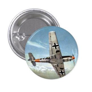 Aviones de WWII ME-109 en vuelo Pin Redondo De 1 Pulgada