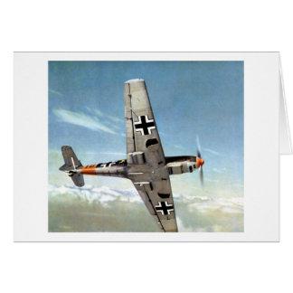 Aviones de WWII ME-109 en vuelo Tarjeta Pequeña