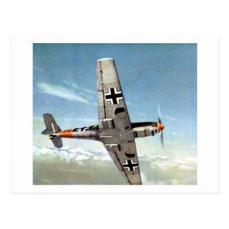 Aviones de WWII ME-109 en vuelo Tarjetas Postales