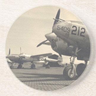 Aviones de WWII Posavasos Cerveza