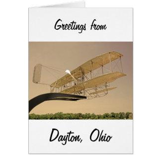 Aviones del aviador de Wright Tarjeta De Felicitación