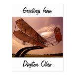 Aviones del aviador de Wright Tarjetas Postales