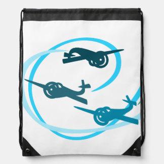 Aviones del azul del salón aeronáutico de Fokker Mochilas