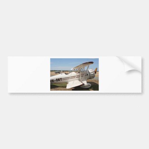 Aviones del biplano de Waco Pegatina De Parachoque