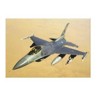 Aviones del bloque 40 del halcón que luchan F-16 Impresiones En Lona