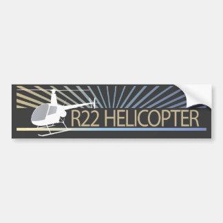 Aviones del helicóptero pegatina de parachoque